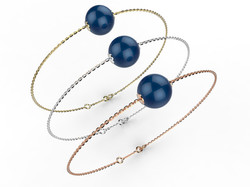 Bracelet or perle agate bleue 280 €