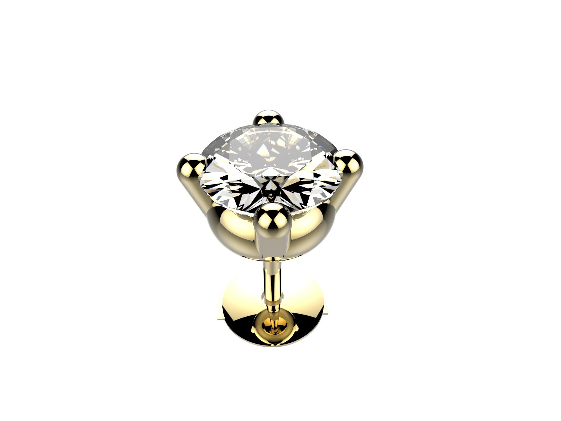 Boucle d'oreille diamant 8400 €