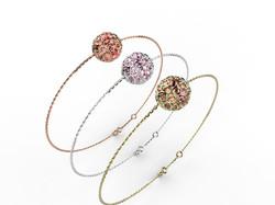 Bracelet or perle quartz rose 350 €
