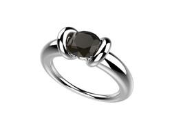 Bague or blanc diamant noir 2330 €