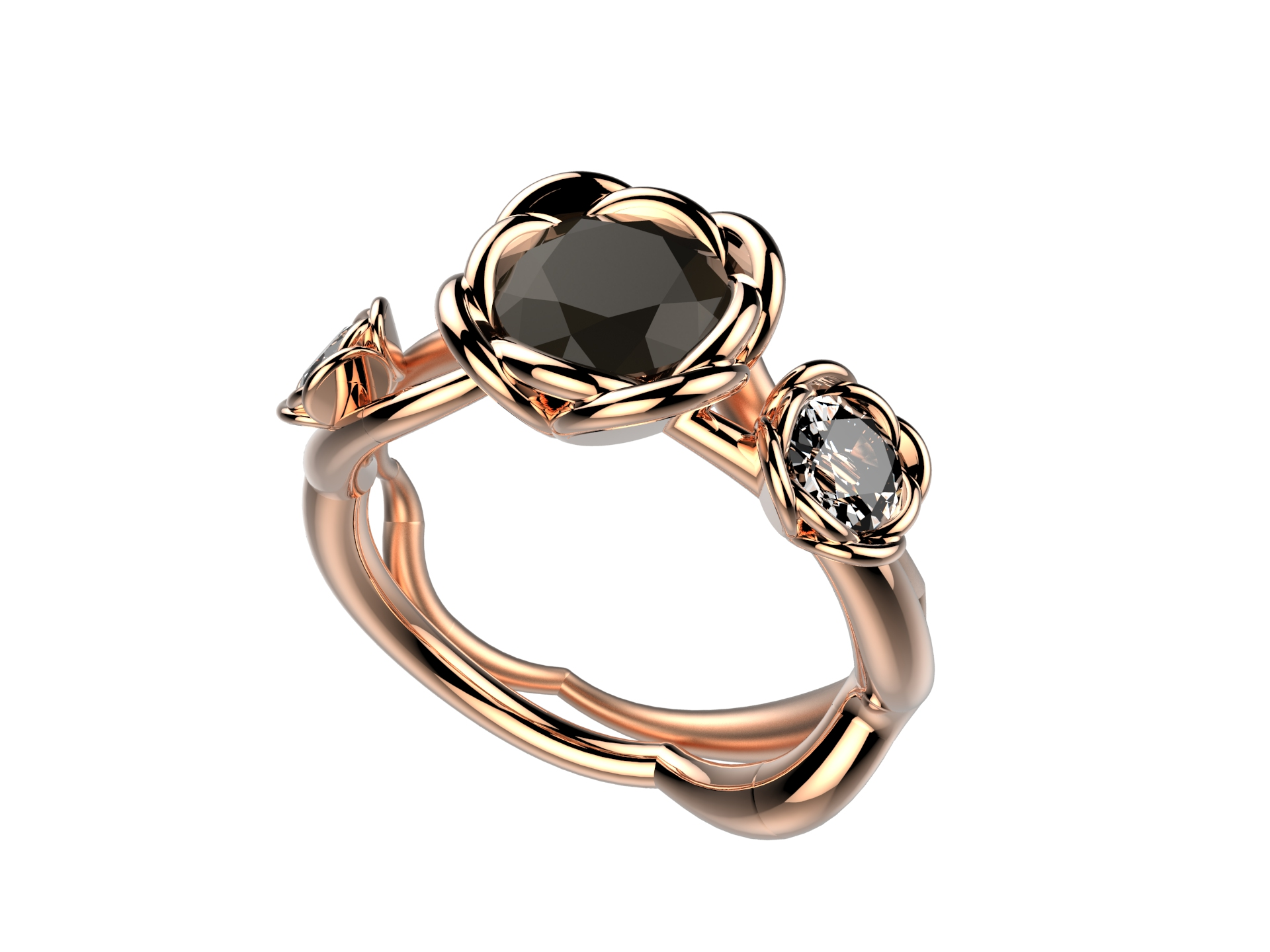 Selva or rose diamant noir 5380 €