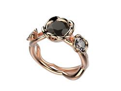 Selva or rose diamant noir 5380 €