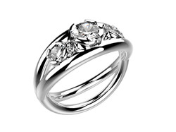 Solitaire or blanc diamants - 5170 €