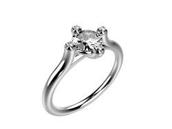 Solitaire or blanc diamants - 3910 €