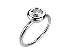 Solitaire or blanc diamant - 3780 €