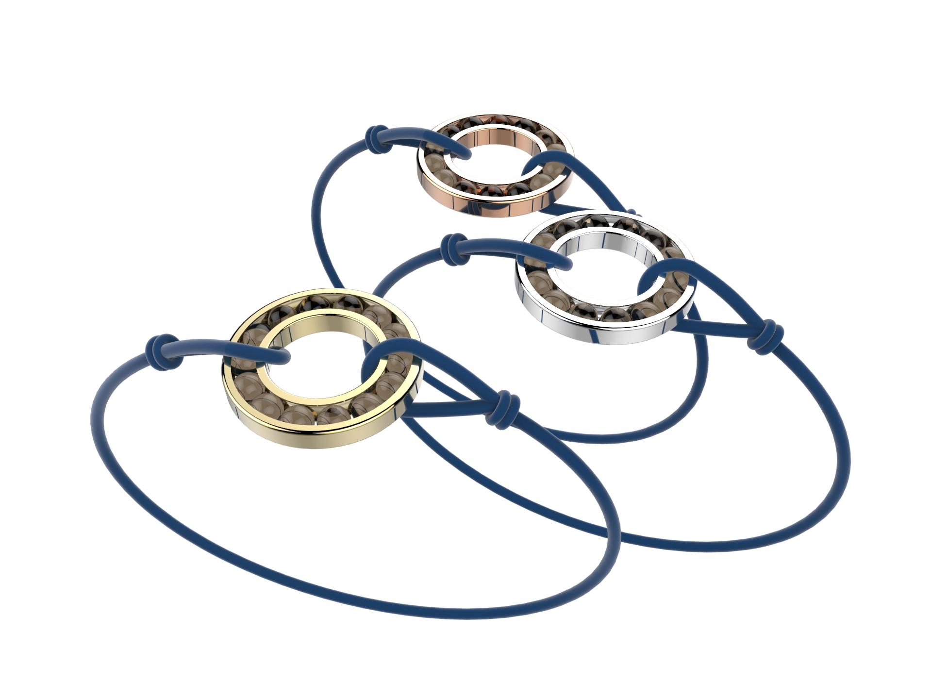 Bracelet or cordon qz fumé 490 €
