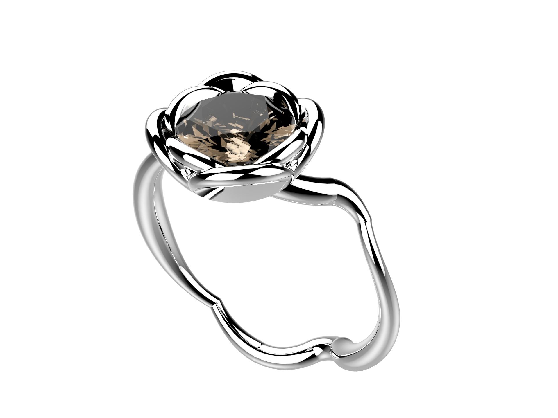 Selva or blanc quartz fumé 1060 €