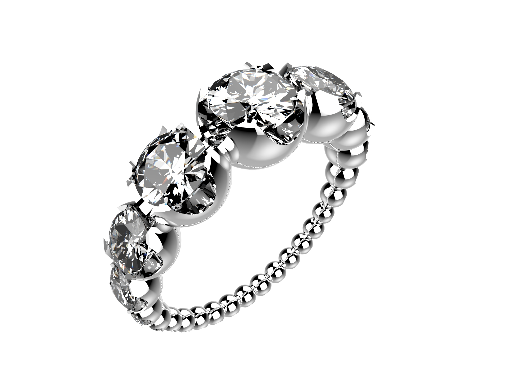 Solitaire or blanc diamants - 8110 €