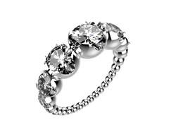 Solitaire or blanc diamants - 8110 €