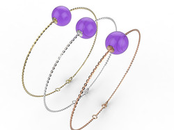 Bracelet or perle améthyste 280 €