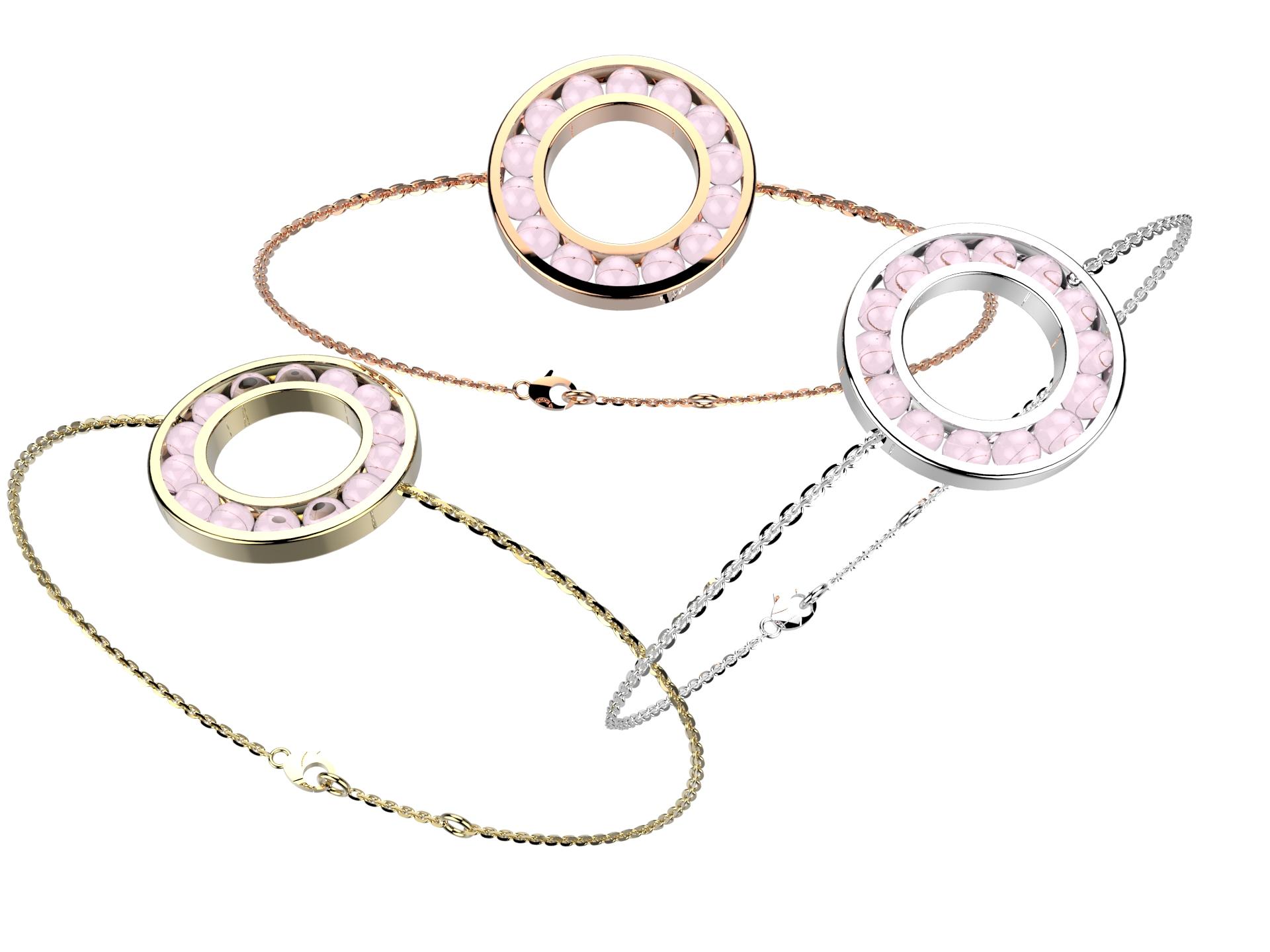 Bracelet chaine or qz rose 720 €