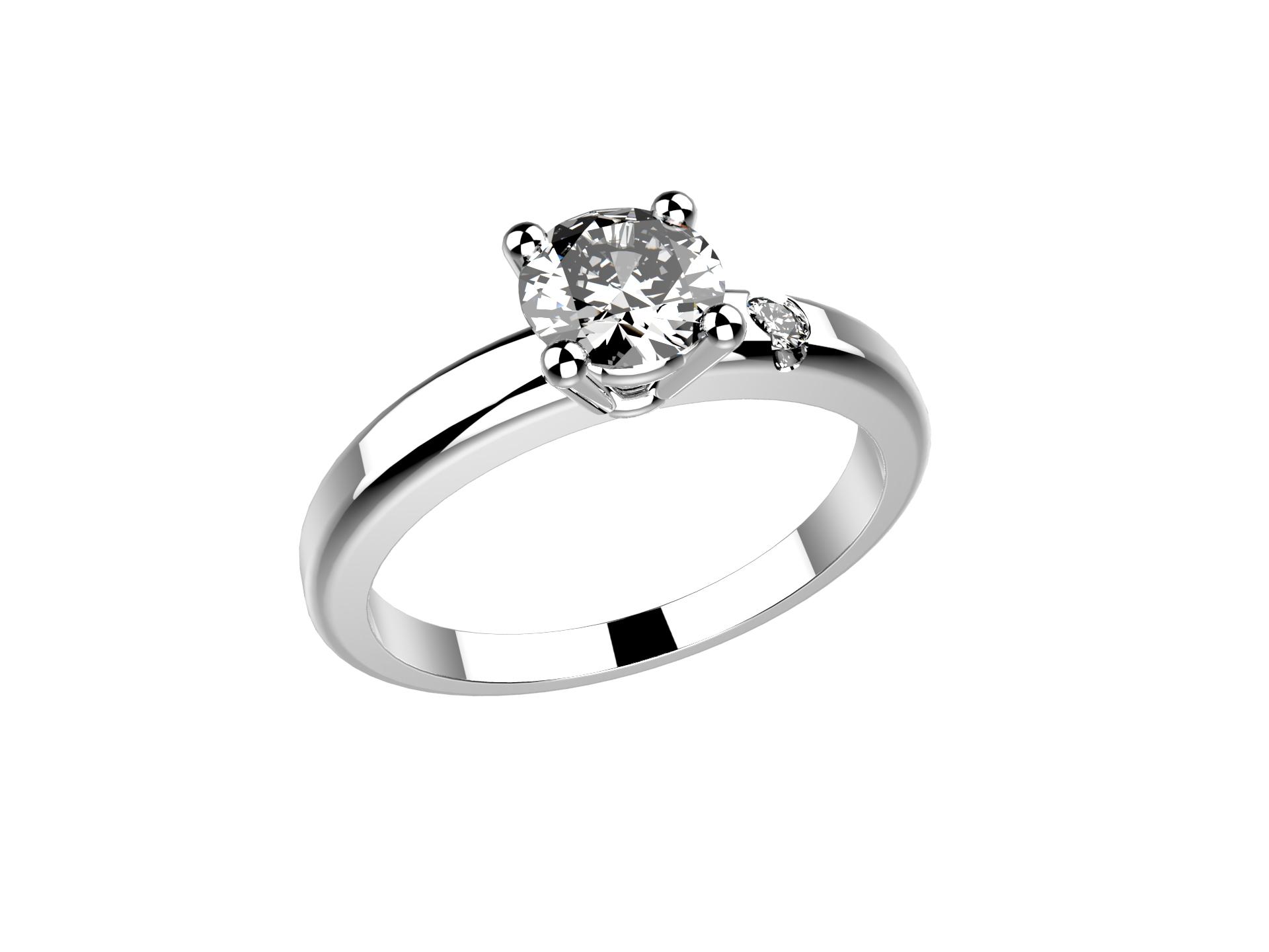 Solitaire or blanc diamant - 3430 €