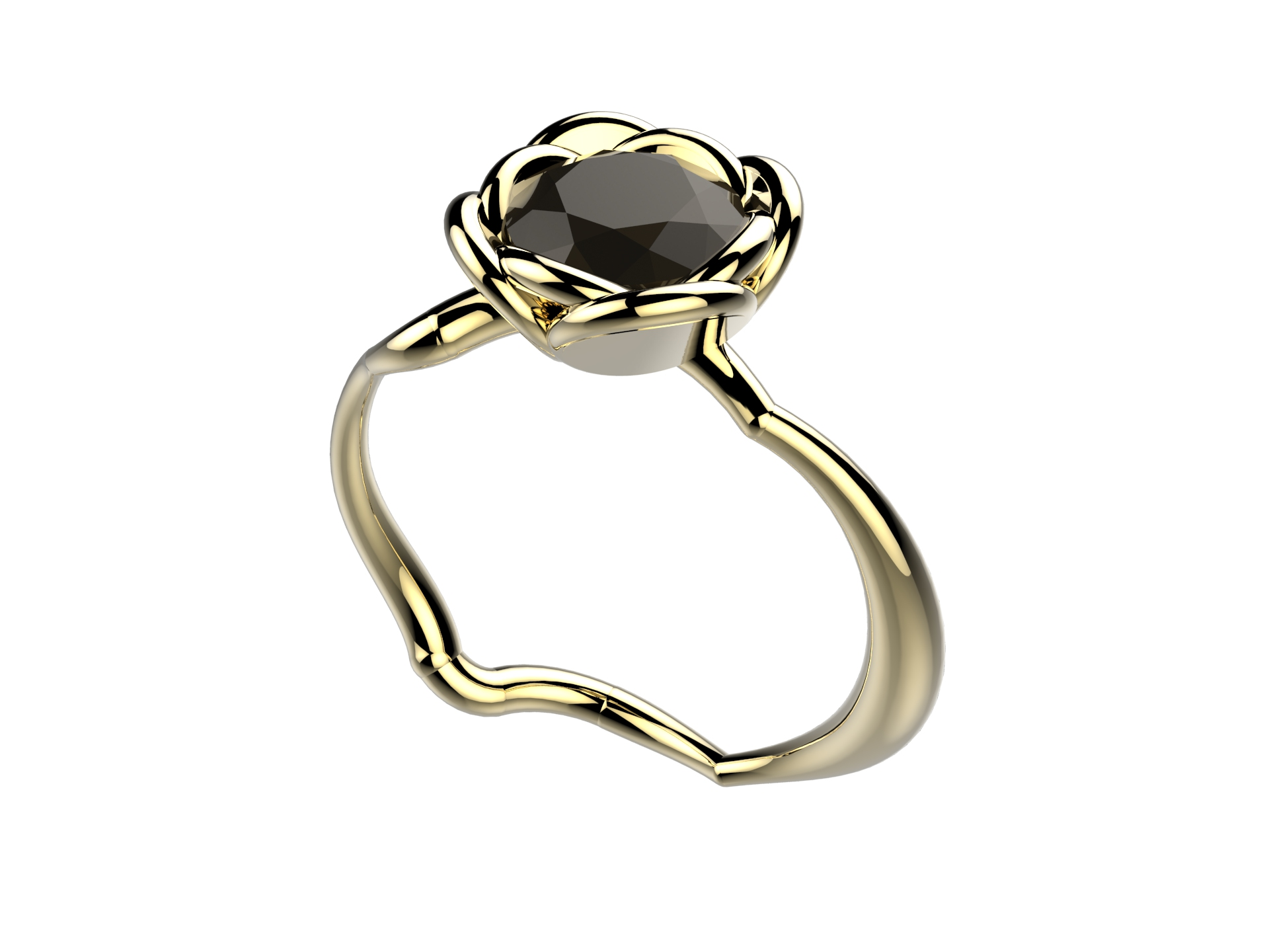Selva or jaune diamant noir 3700 €