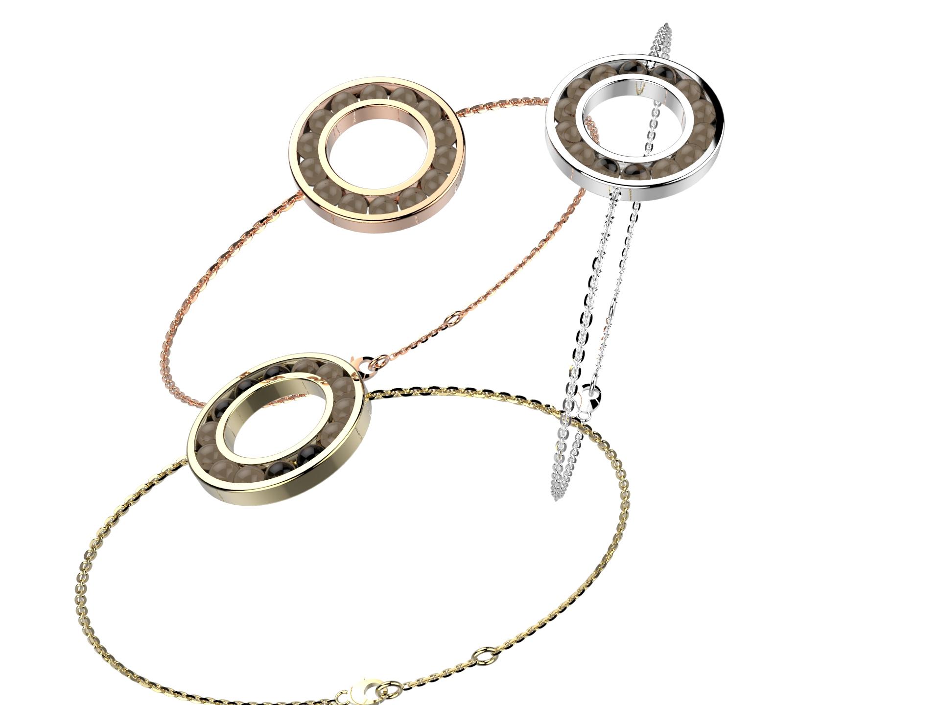 Bracelet chaine or qz fumé 720 €