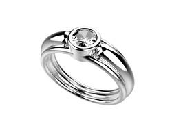 Solitaire or blanc diamant - 4100 €