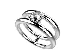 Solitaire or blanc diamant - 4240 €