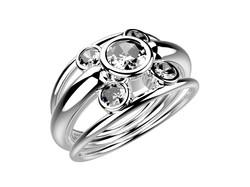 Solitaire or blanc diamants - 5150 €