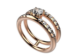 Solitaire or rose diamant - 5170 €