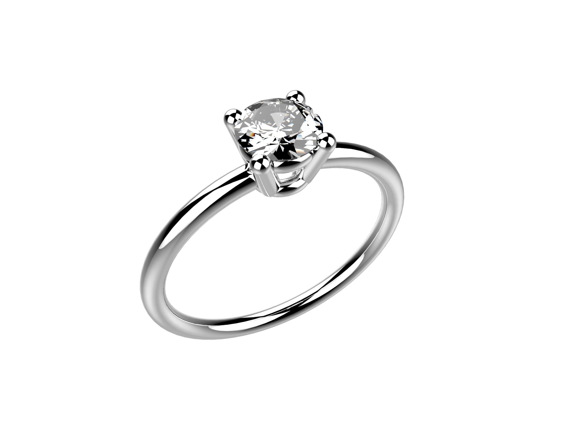Solitaire or blanc diamant - 3600 €