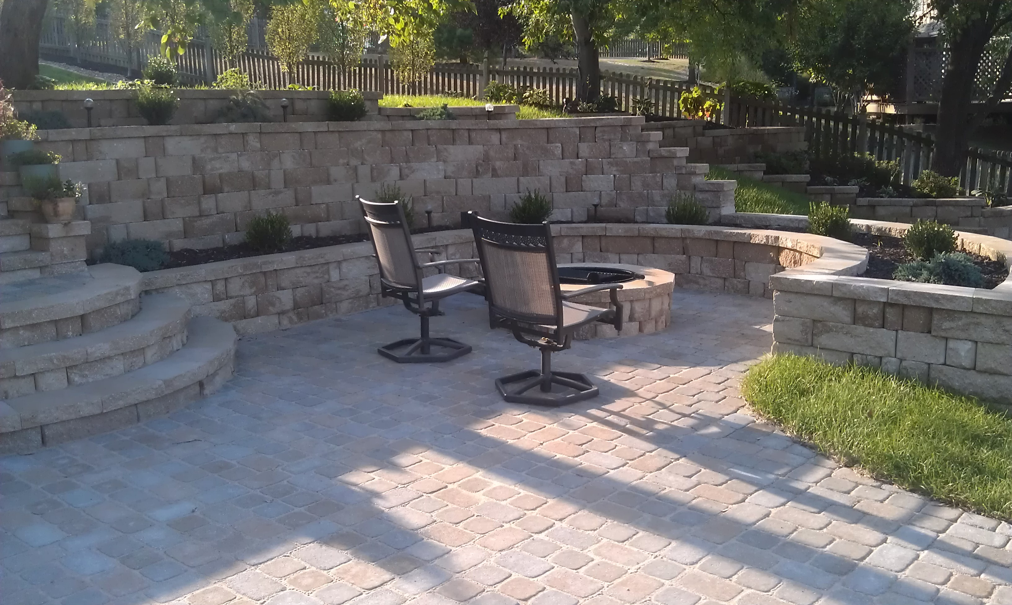 #1 Finished view of patio and walls