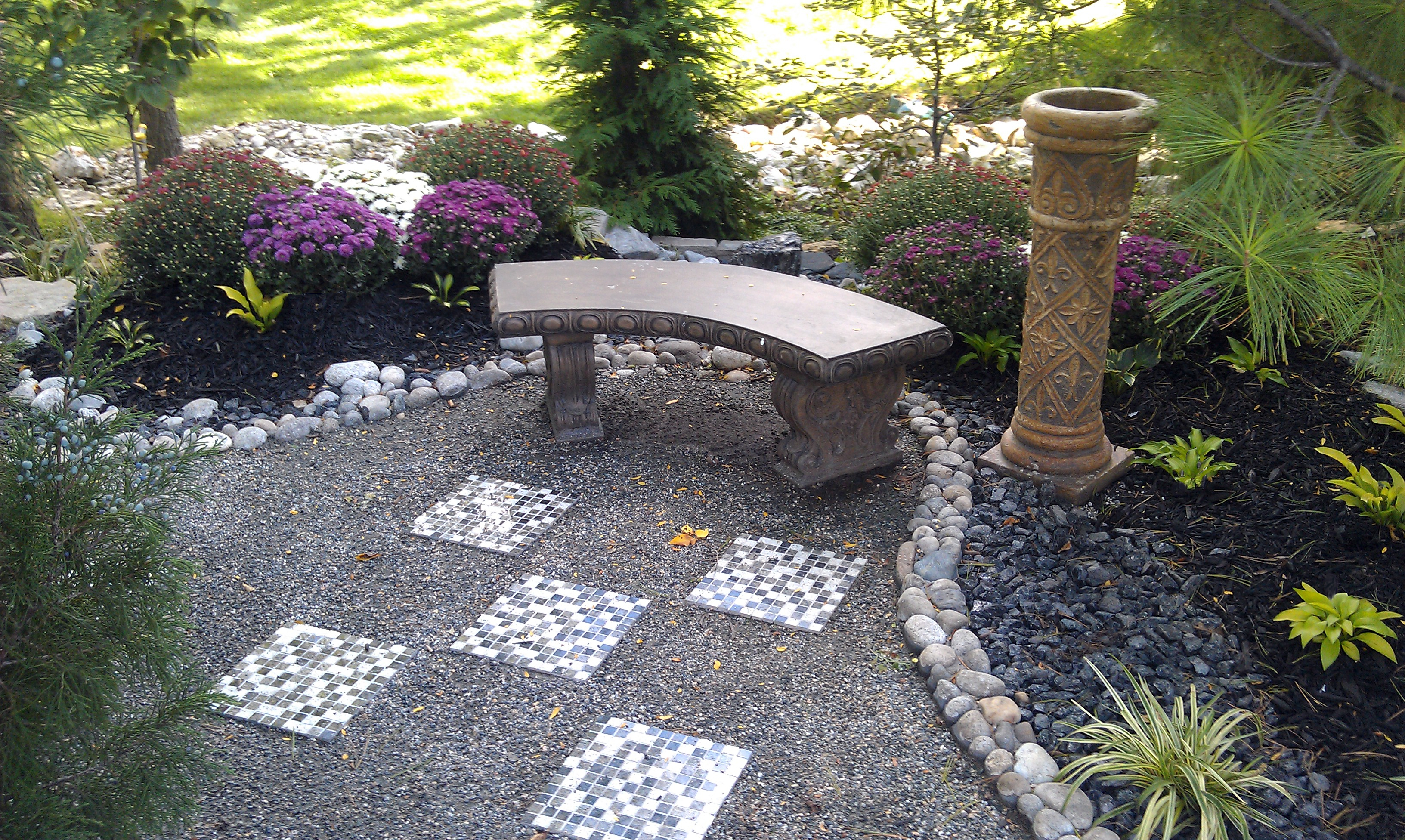 #8 after - View of bench and path