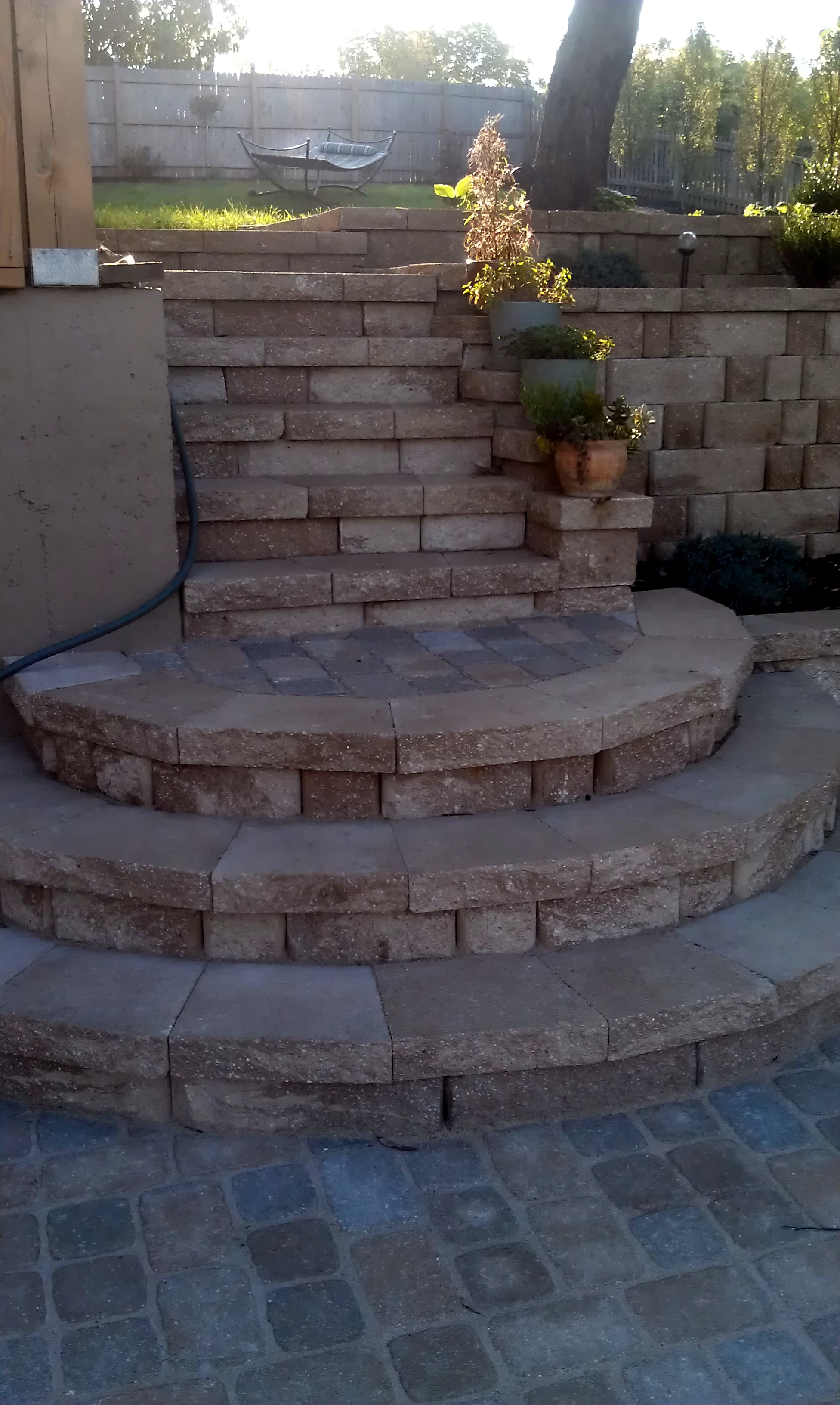 #11 View of new stairs with landings