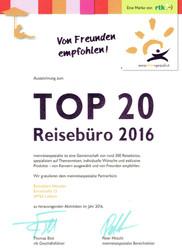 TOP 20 Reisebüro 2016