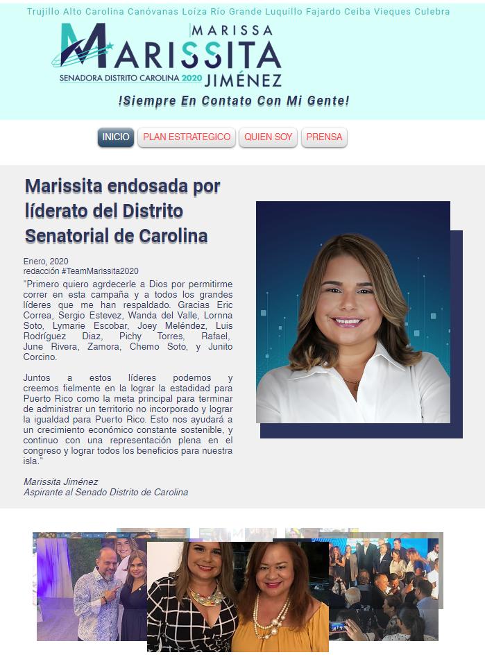 Marissita Senadora 2020 Website