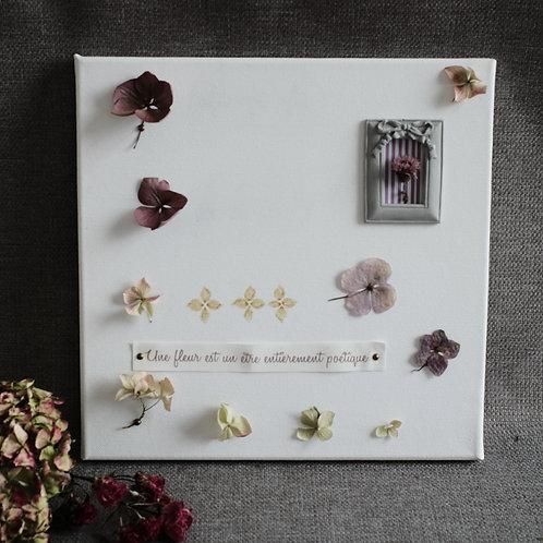 """Tableau végétal """"Une fleur est un être entièrement poétique"""""""