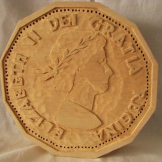 Wooden Nickel (Back)