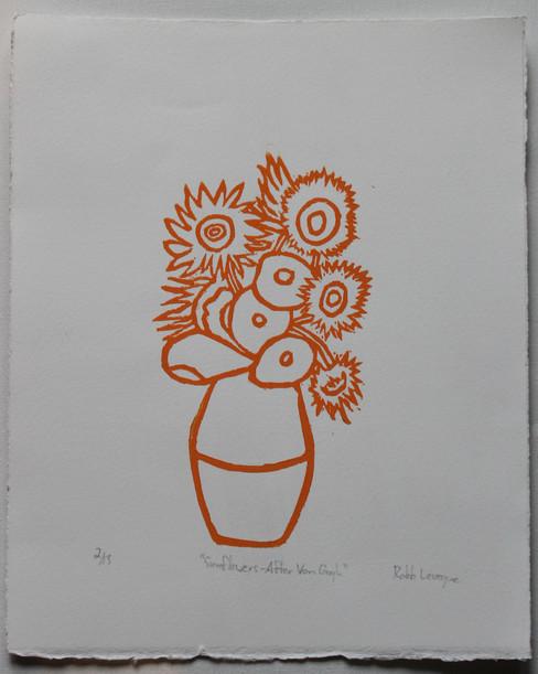 Sunflowers After Van Gogh