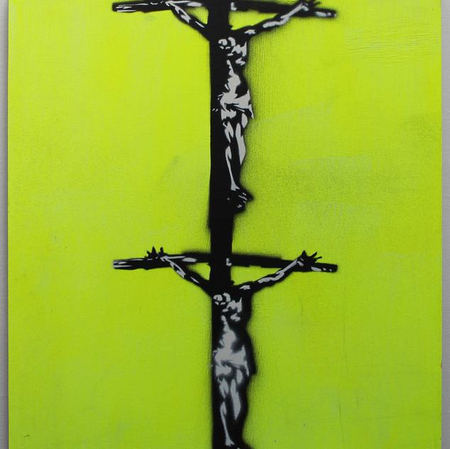 Double Cruxifiction (Yellow)