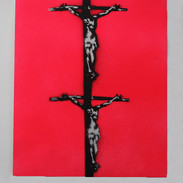 Double Crucifixion (Pink)