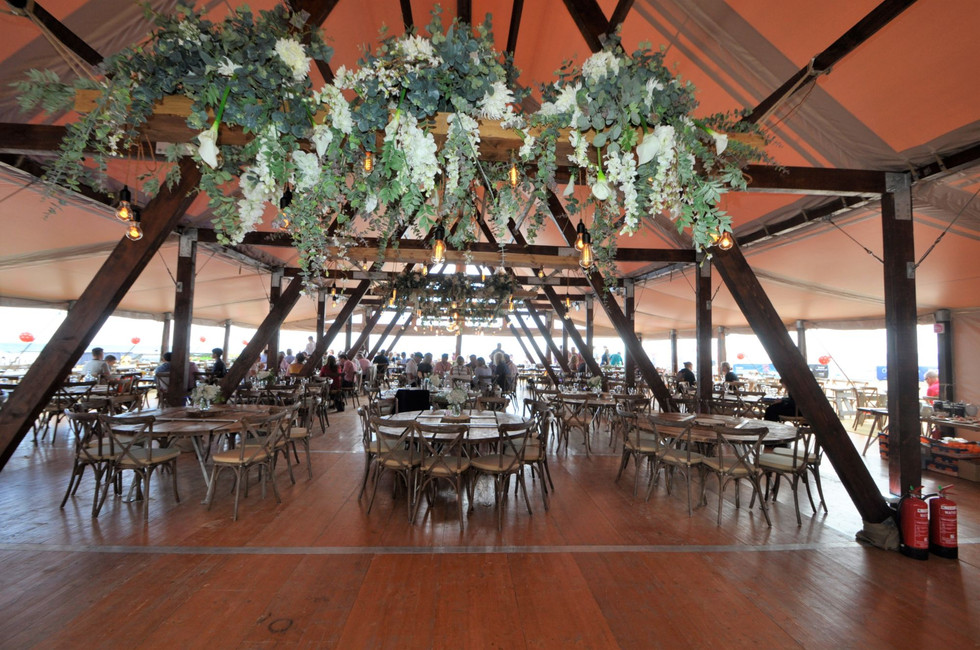 Cruck-tent-for-events-interior
