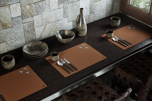 HUMMINGBIRD Genuine Leather Placemats (PATTERNLESS)