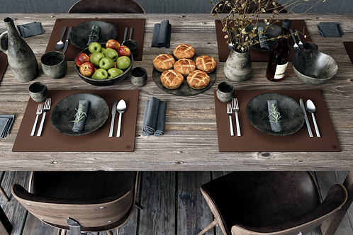 Genuine Leather Placemats (PATTERNLESS)