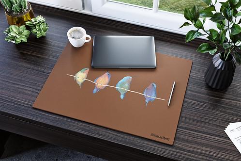 HUMMINGBIRD Genuine Leather Desk Pad