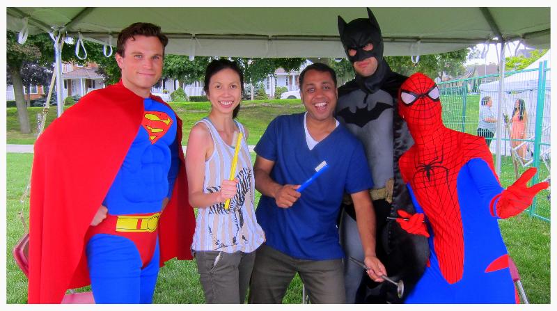 Best Burlington Children's Dentist have fun with superheroes