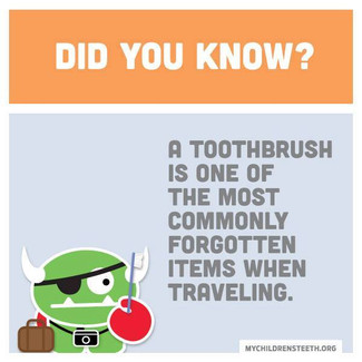 Don't forget your toothbrush this summer!