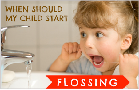 Milton Children Dentist floss my child's teeth