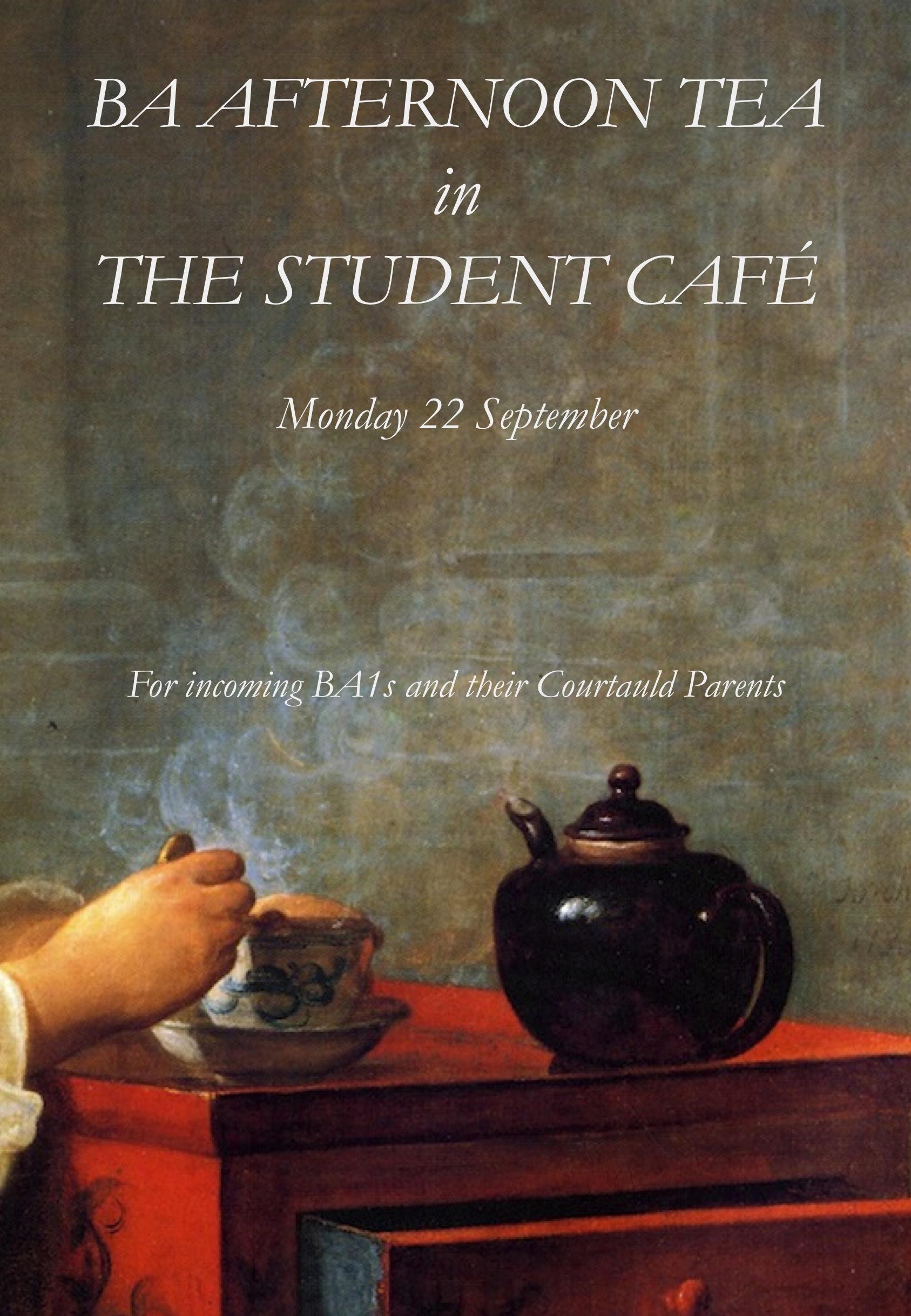 1 Monday 3 Afternoon Tea