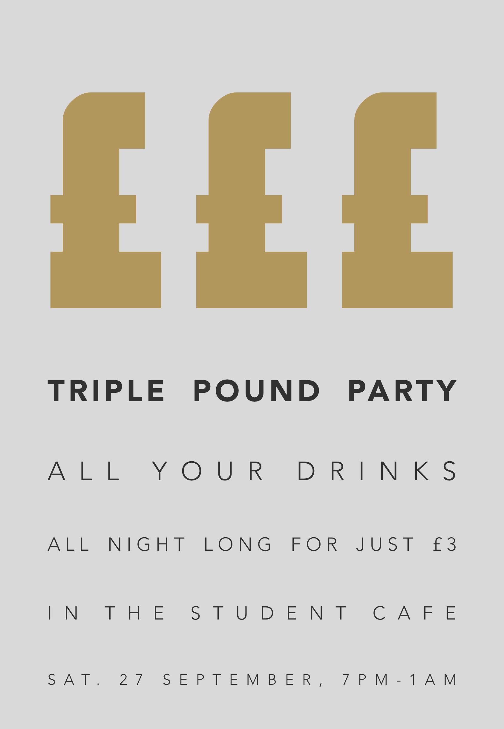 6 Saturday 2 - Triple Pound Party