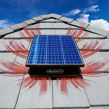solar roof mount attic fan eco air solutions