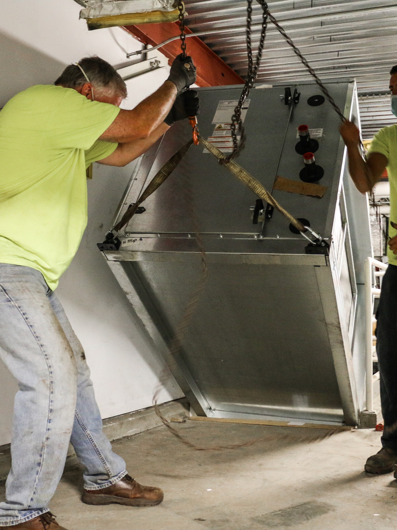 Lowering Airconditioning Unit