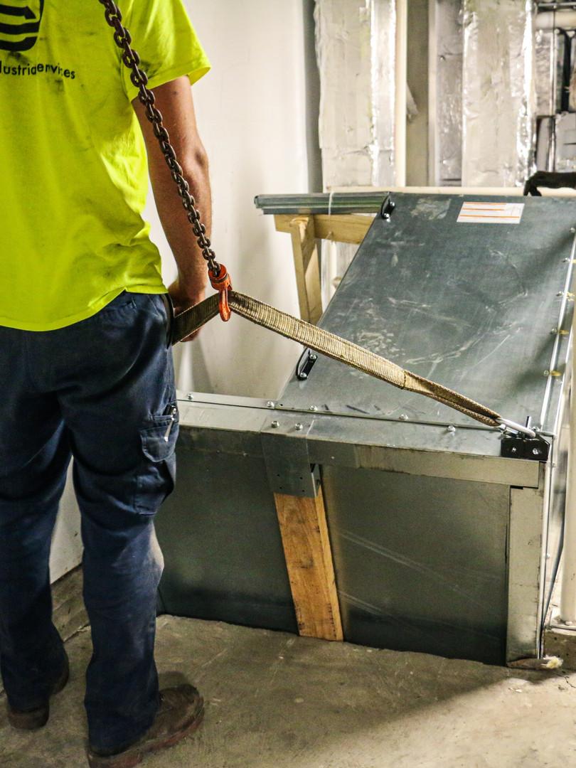 Rigging Air Conditioner Unit