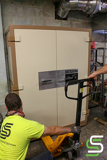 Placing the 4,500 LB Safe