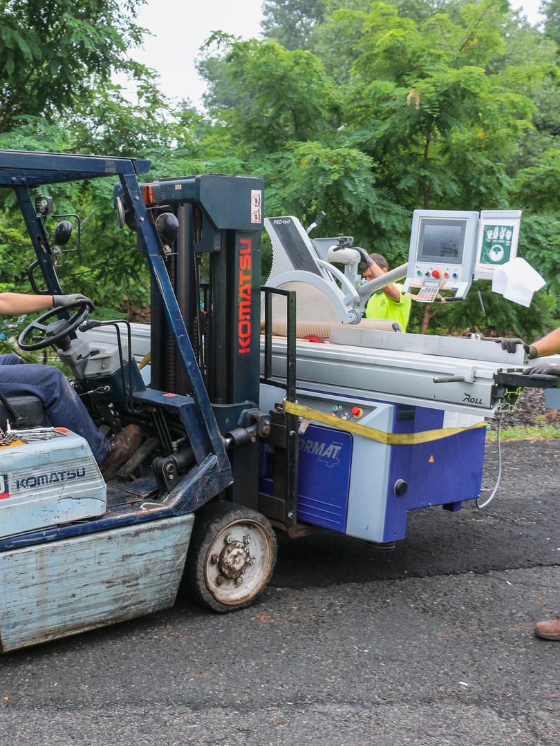 Woodworking Machine Rigging