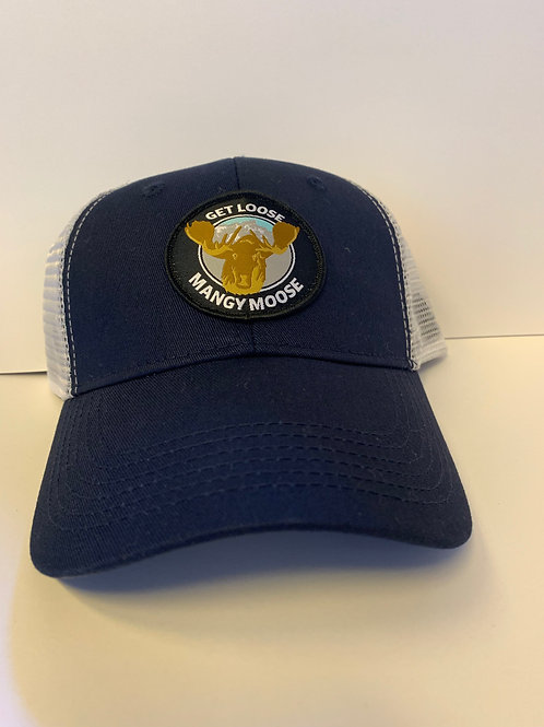 Navy and White Hat