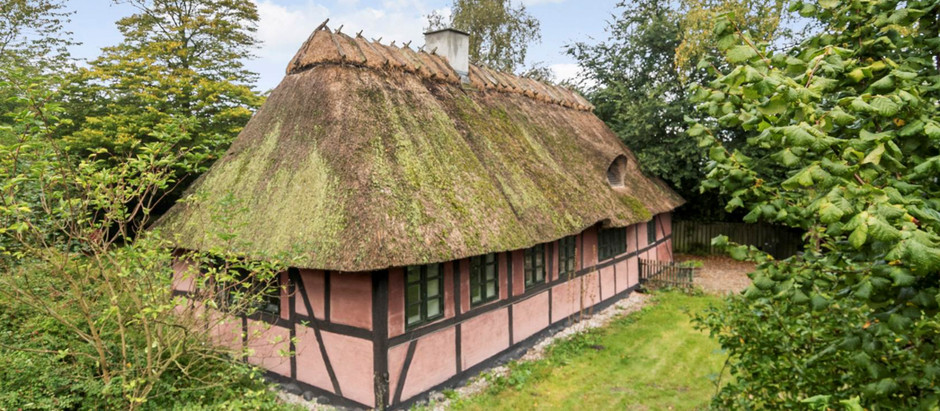 Pink Thatch Cottage in Denmark for $62k