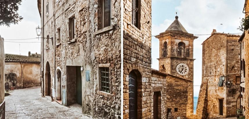 Tuscan medieval village home for $190k